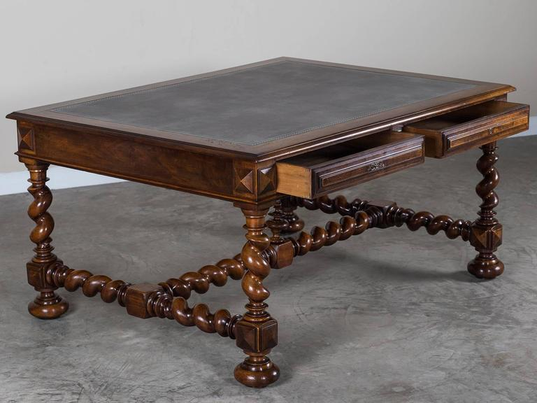 antique french henri ii walnut partners table desk circa 1880 at 1stdibs. Black Bedroom Furniture Sets. Home Design Ideas