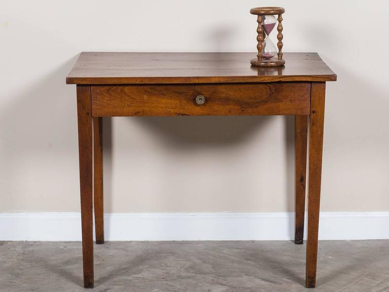 Antique French Louis Philippe Walnut Table With Drawer