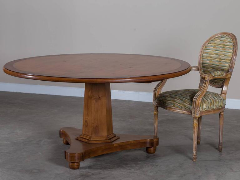 style cherrywood round pedestal dining table for sale at 1stdibs