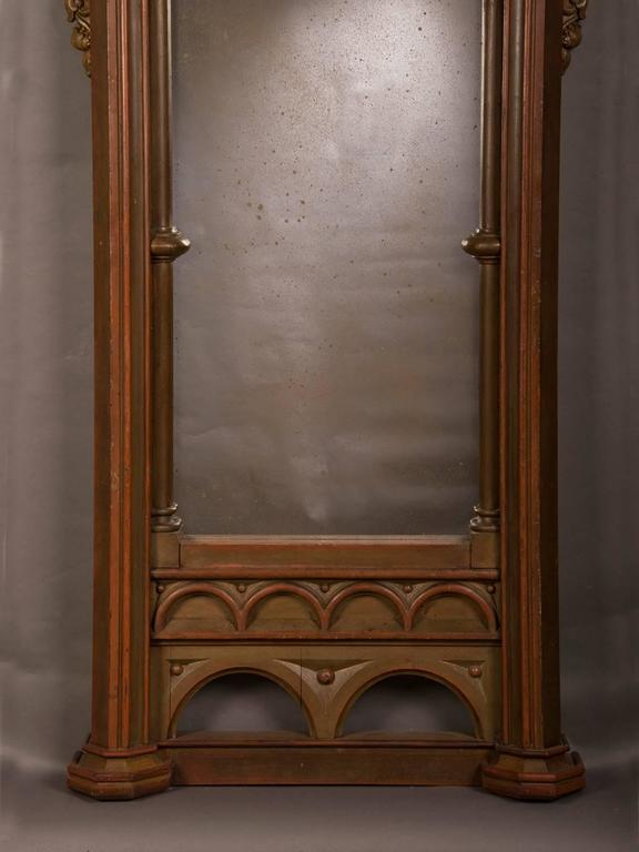 Antique German Gothic Frame Now Enclosing An Antiqued