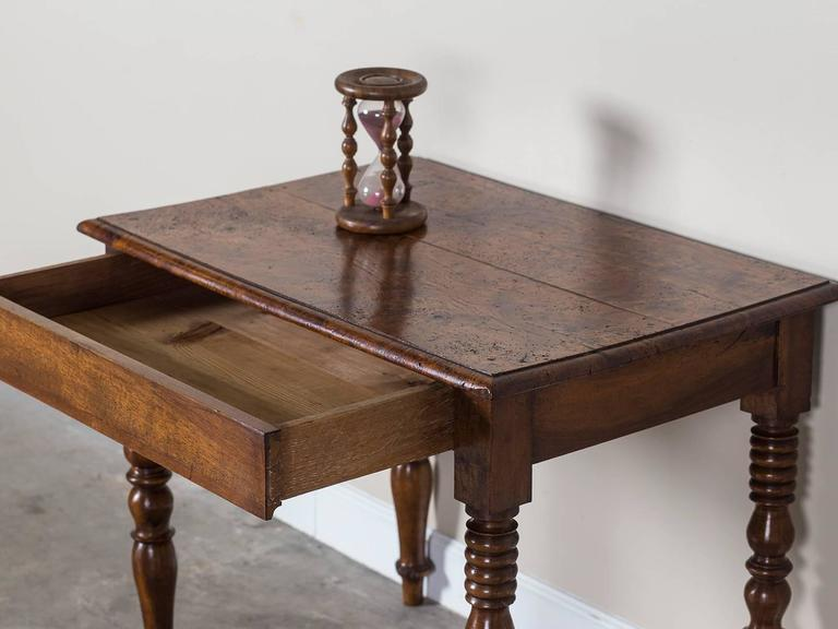 Antique french louis philippe burl chestnut table with for Table 6 pieds louis philippe