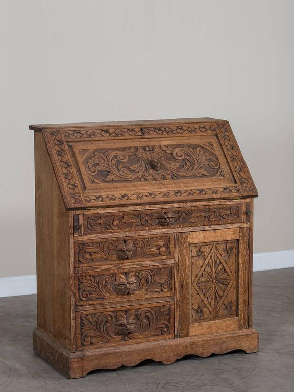 Arts And Crafts Secretaire Bookcase