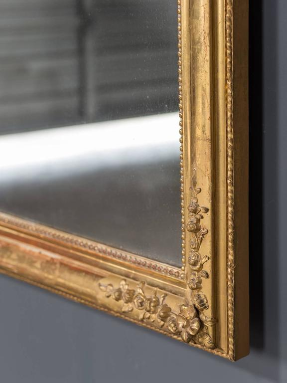 Antique French Louis Philippe Gold Leaf Mirror, circa 1870 4