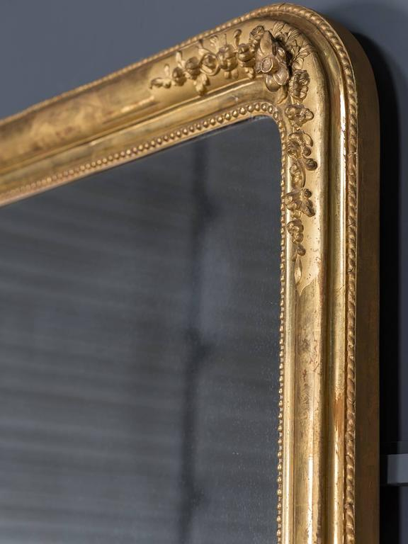 Antique French Louis Philippe Gold Leaf Mirror, circa 1870 8