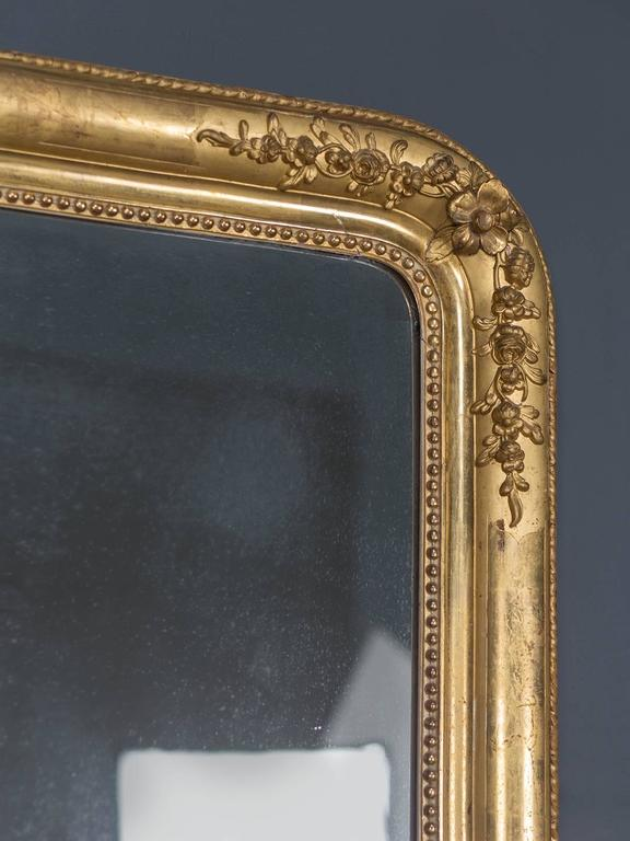 Antique French Louis Philippe Gold Leaf Mirror, circa 1870 7