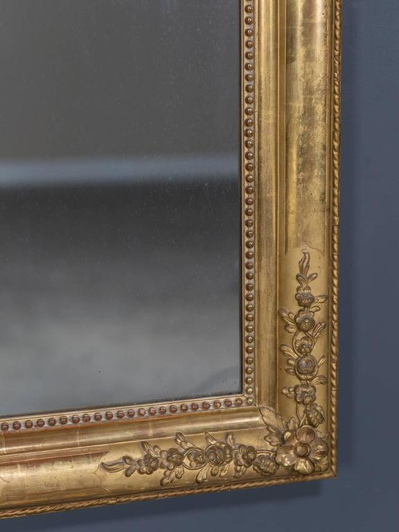 Antique French Louis Philippe Gold Leaf Mirror, circa 1870 5