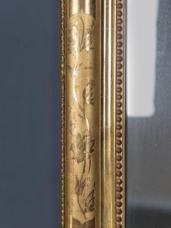 Antique French Louis Philippe Gold Leaf Mirror, circa 1870 6