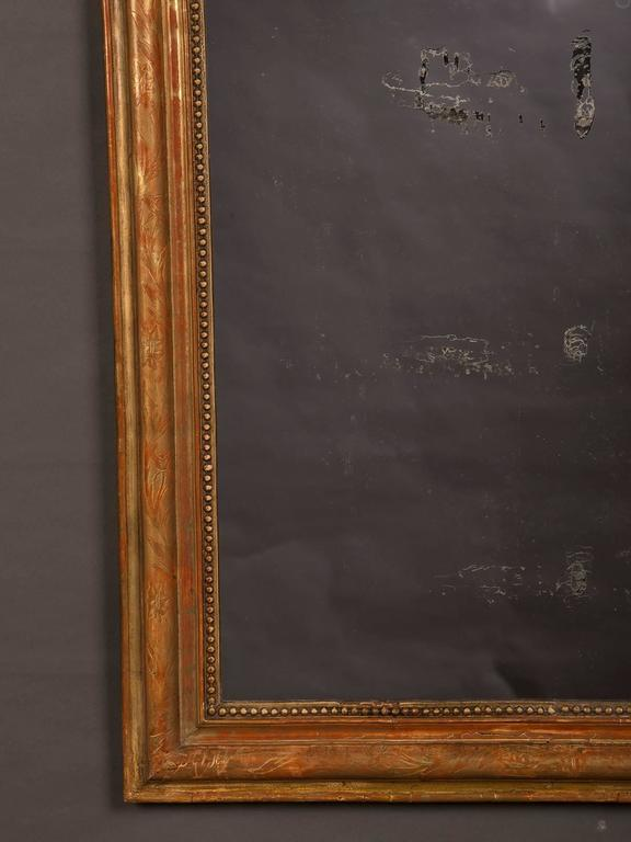 Late 19th Century Antique French Louis Philippe Gold Leaf Mirror, circa 1890 For Sale