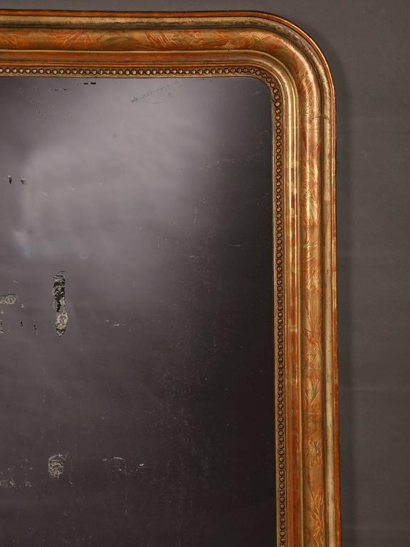 Antique French Louis Philippe Gold Leaf Mirror, circa 1890 For Sale 2