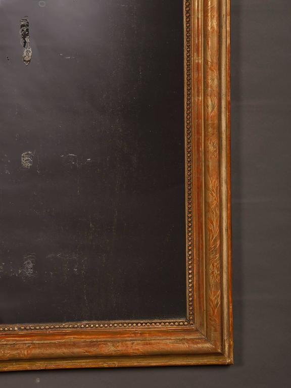 Antique French Louis Philippe Gold Leaf Mirror, circa 1890 For Sale 1