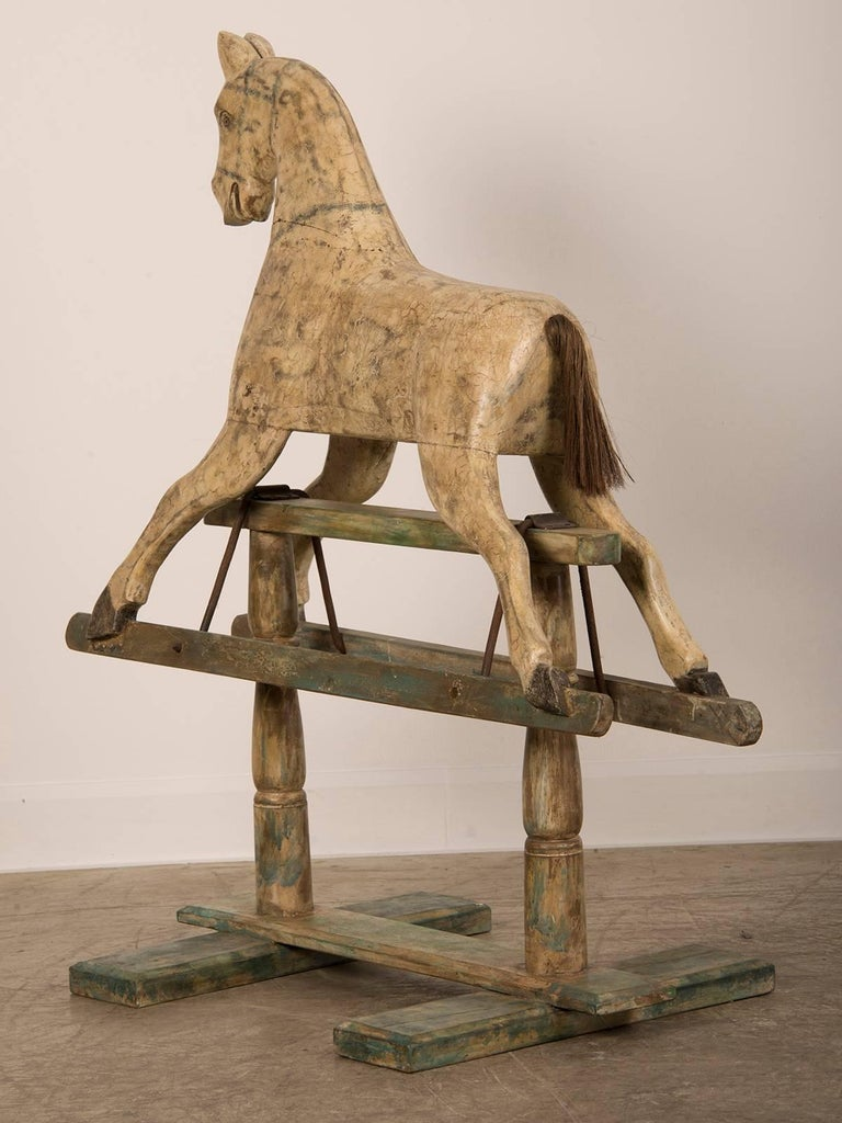 Painted Wood Rocking Child S Hobby Horse France For Sale