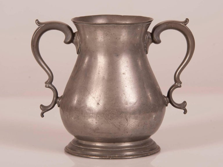 Large Antique French Louis Philippe Pewter Urn, circa 1850 For Sale 1