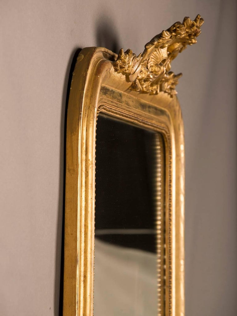 Large Antique French Louis Philippe Mirror Régence Cartouche, circa 1885 For Sale 4