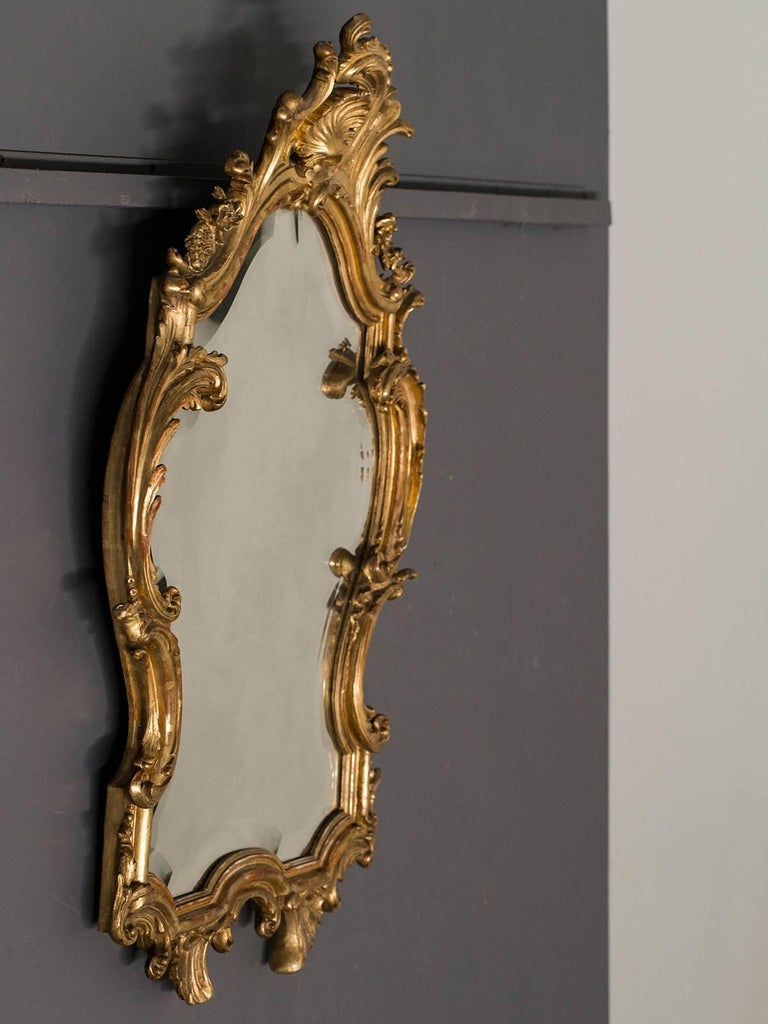 Antique french louis xv style rococo mirror circa 1890 for Old style mirror