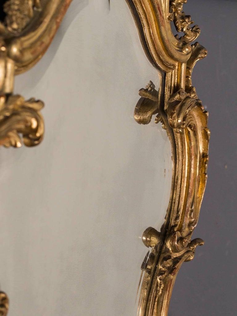 Antique french louis xv style rococo mirror circa 1890 for French rococo fashion