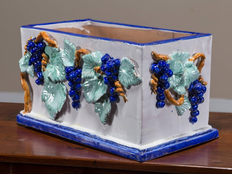 Vintage Italian Ceramic Planter Jardinière by Solimene, Vietri 3
