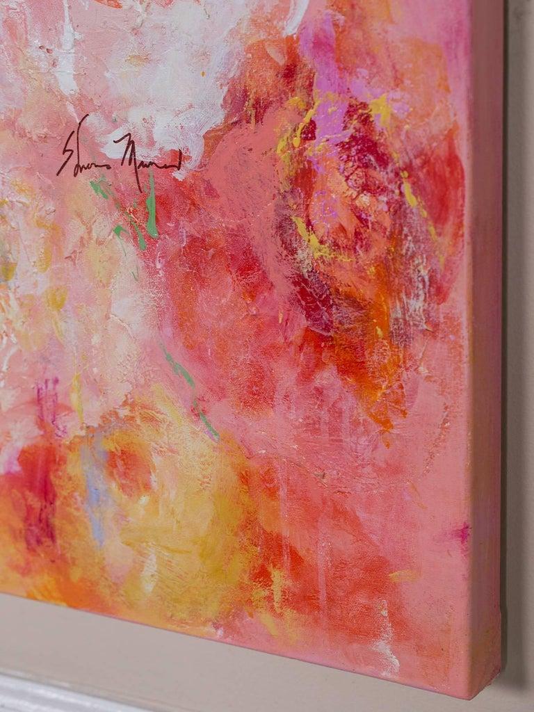 "Modern ""Summer Roses"", Original Canvas, Sheema Muneer For Sale"