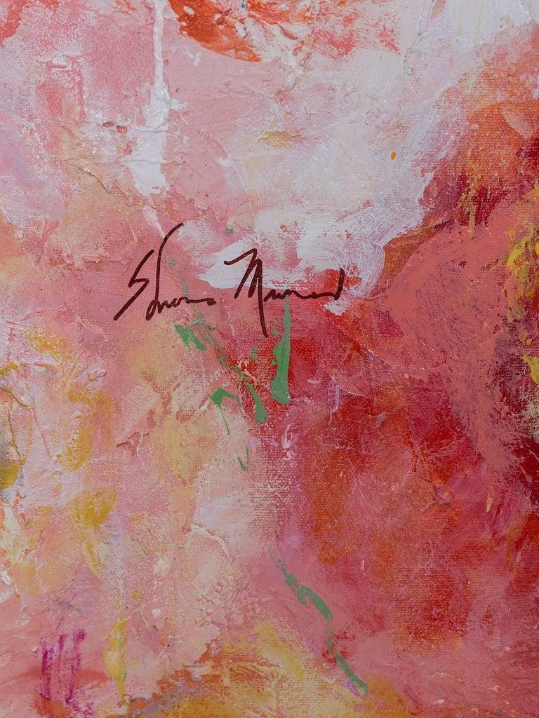 "American ""Summer Roses"", Original Canvas, Sheema Muneer For Sale"