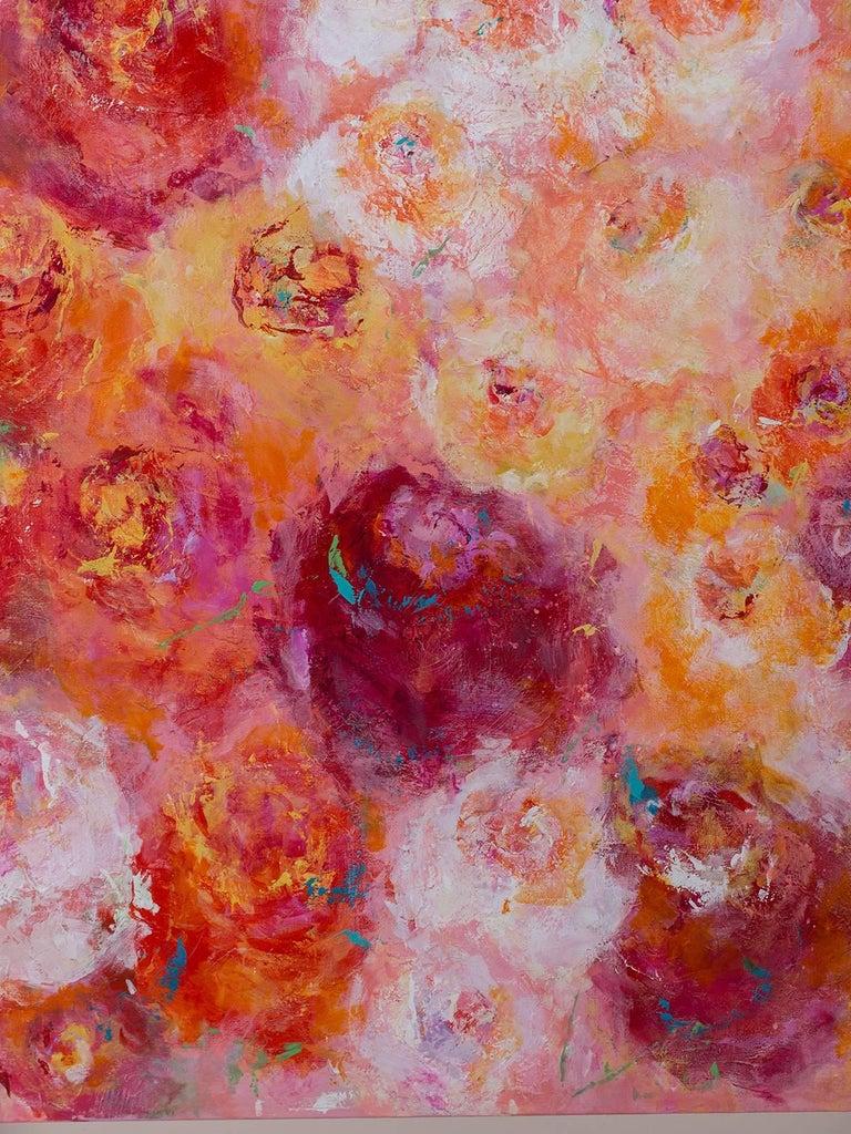 "Contemporary ""Summer Roses"", Original Canvas, Sheema Muneer For Sale"