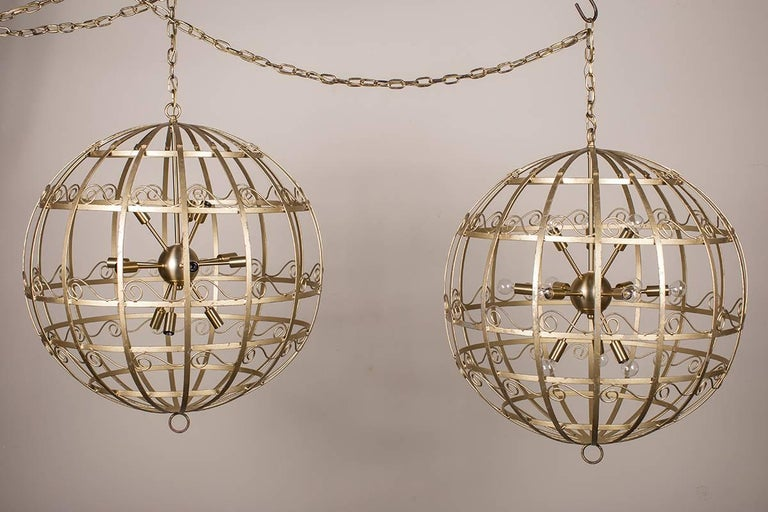 These Stylish Vintage French Chandelier Fixtures Circa 1950 Were Originally Holiday Decorations Used In