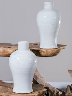 Modern Hand Made Chinese Mei Ping Plum Branch Ceramic Vases