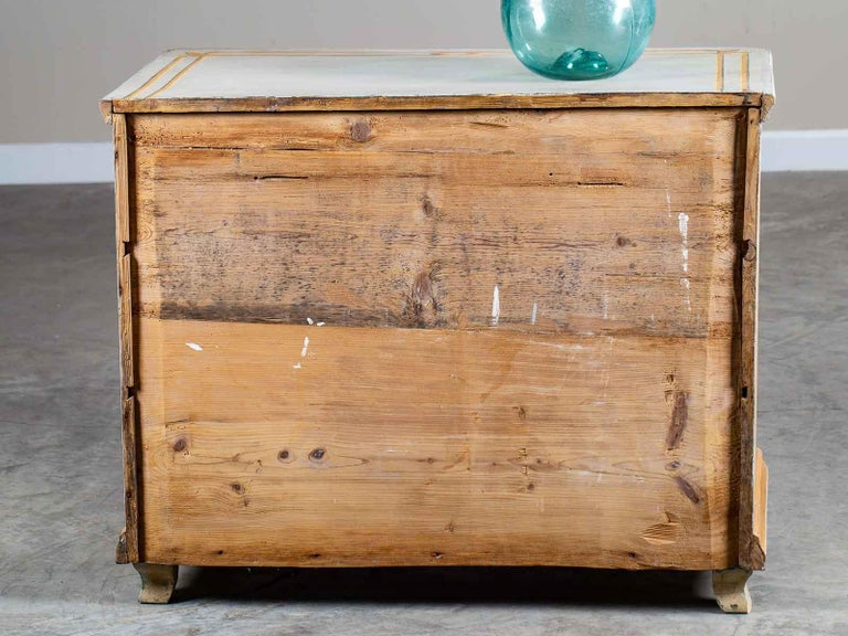 Antique German Biedermeier Painted Chest Three-Drawers For Sale 5