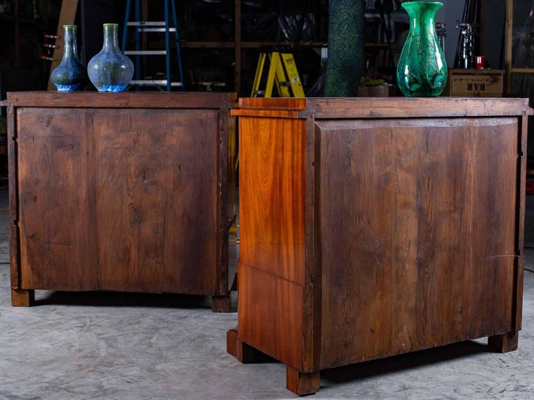 Pair of Biedermeier Period North German Mahogany Chest of Drawers, circa 1820 For Sale 13