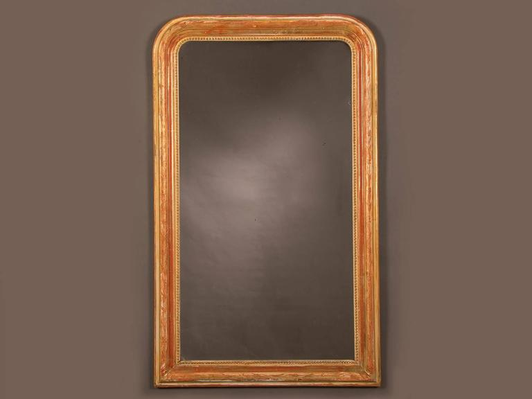 Louis Philippe Style Antique French Gold Leaf Mirror, circa 1880 For Sale 1