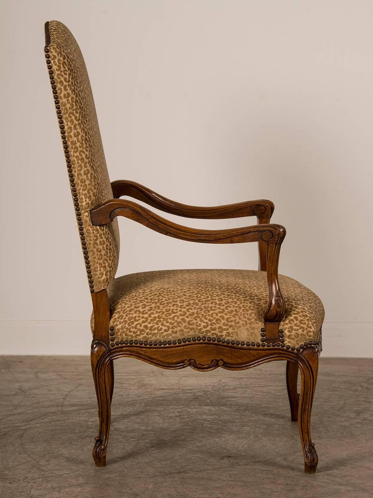 Antique french louis xv style walnut armchair fauteuil circa 1880 for sale - Fauteuil style louis xv ...