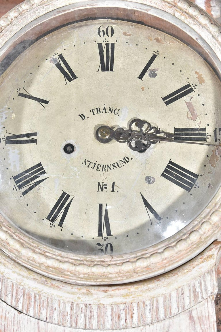 Early 19th Century Gustavian Tall Case Clock For Sale