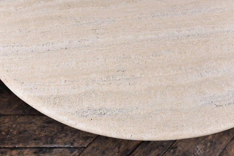 Vintage Travertine Table In Excellent Condition For Sale In Houston, TX