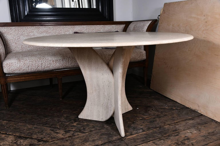 Mid-20th Century Vintage Travertine Table For Sale