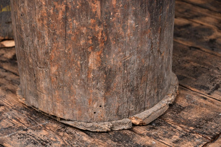 Rustic Wooden Planters In Good Condition For Sale In Houston, TX