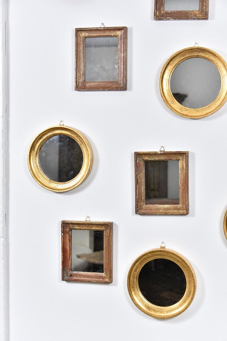A set of 23 Italian mirrors from the 1920s. Will make a beautiful and unique wall decoration for a home.