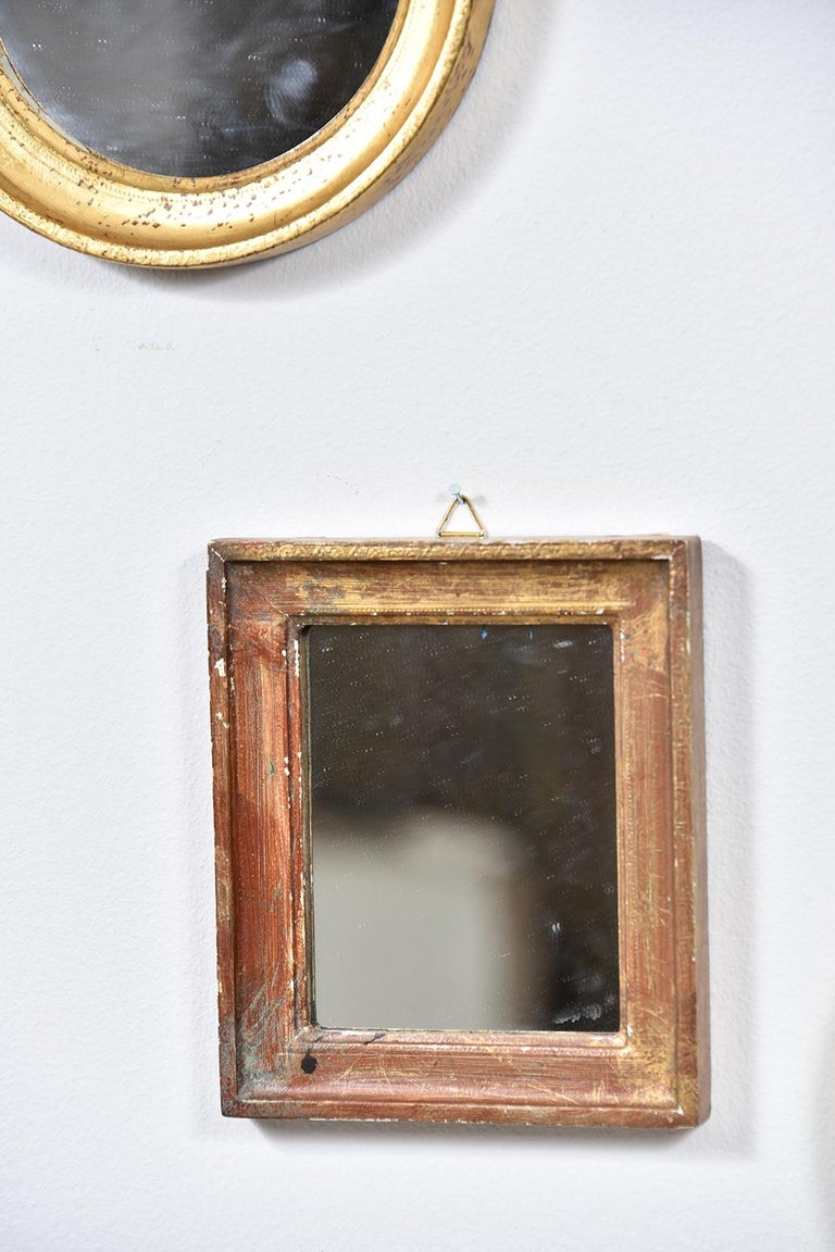 Collection of Petite Italian Mirrors In Good Condition For Sale In Houston, TX