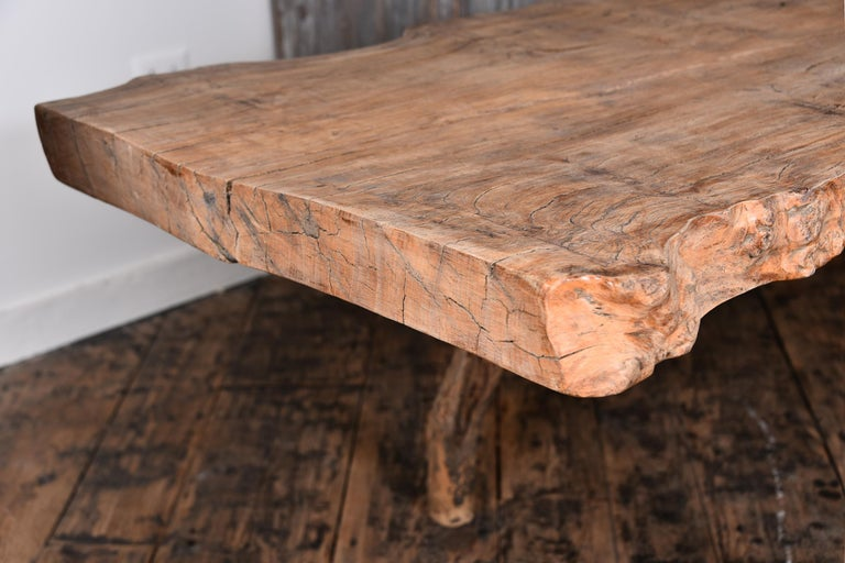 Primitive Table with Live Edge For Sale 4