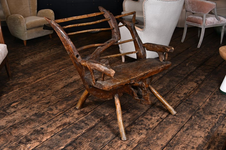 Primitive Italian Chair For Sale 1
