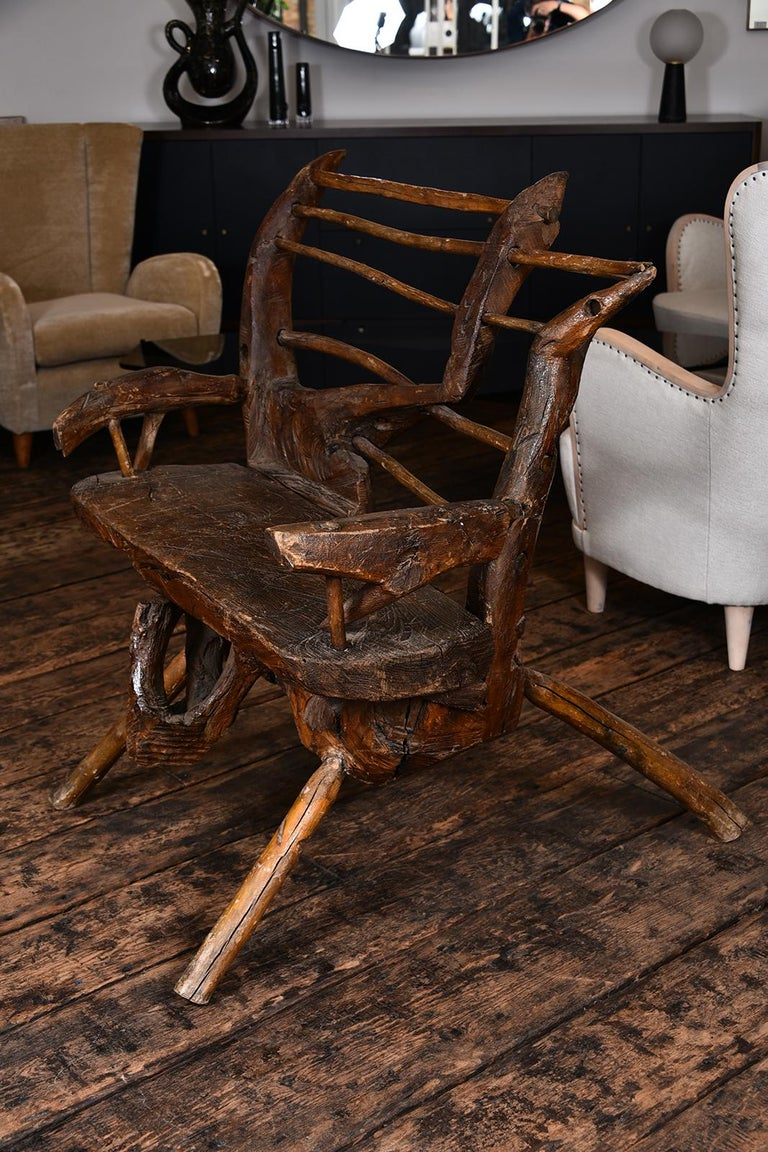 Primitive Italian Chair For Sale 4