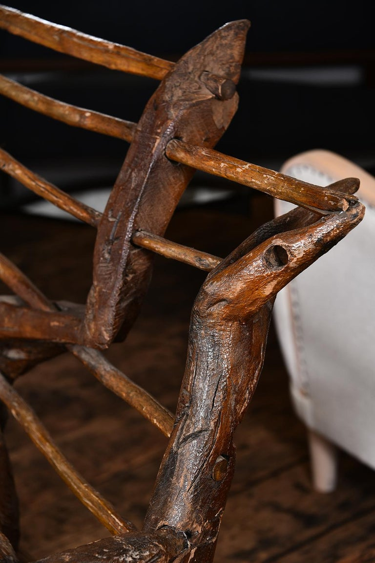 Primitive Italian Chair For Sale 7