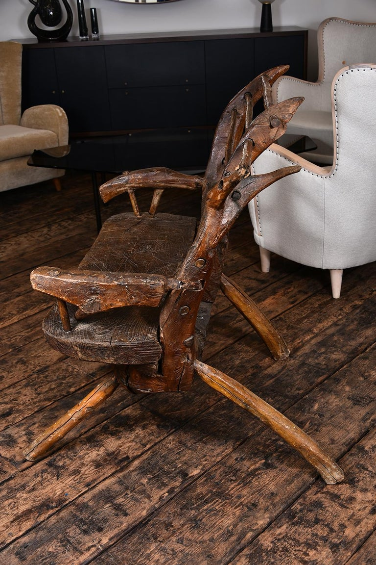 Primitive Italian Chair For Sale 8