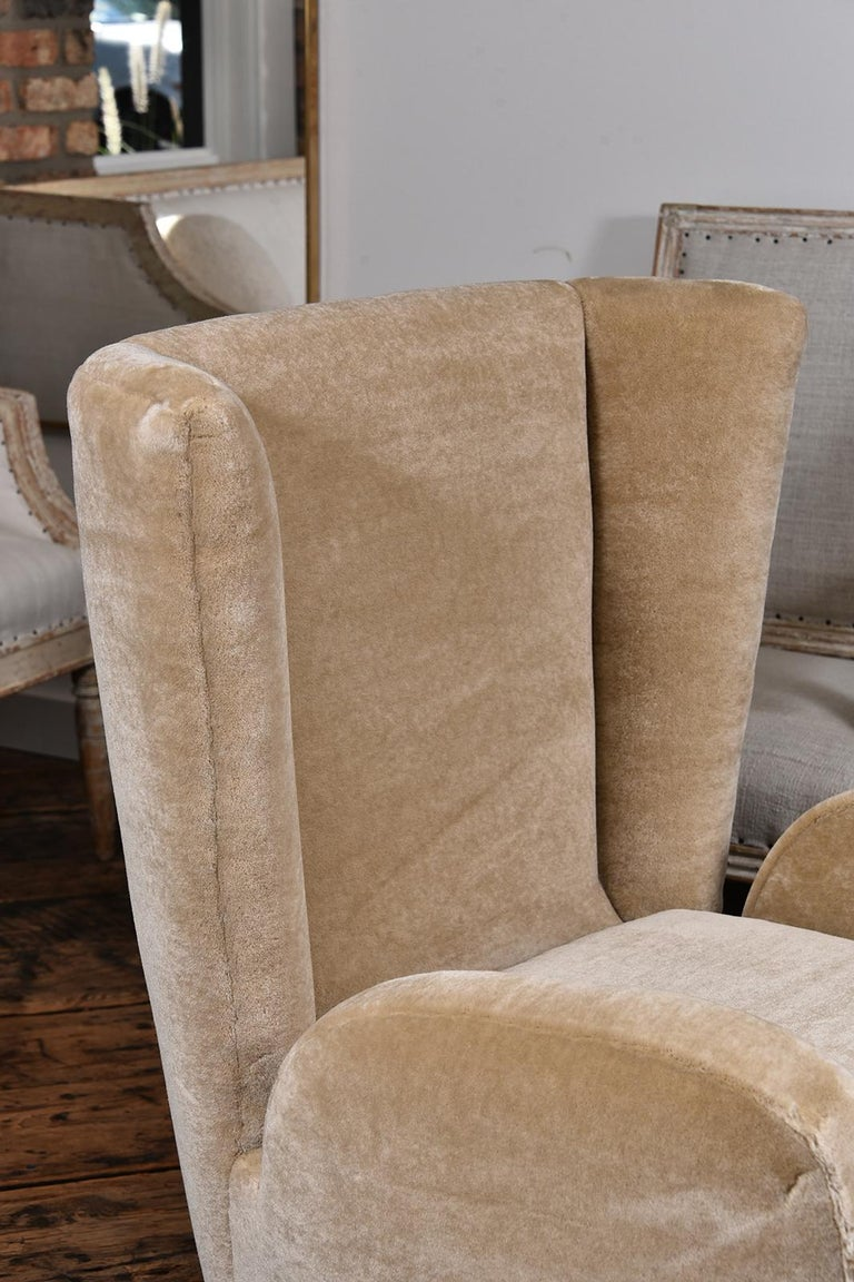 Pair of 1930s Scandinavian Club Chairs In Good Condition For Sale In Houston, TX