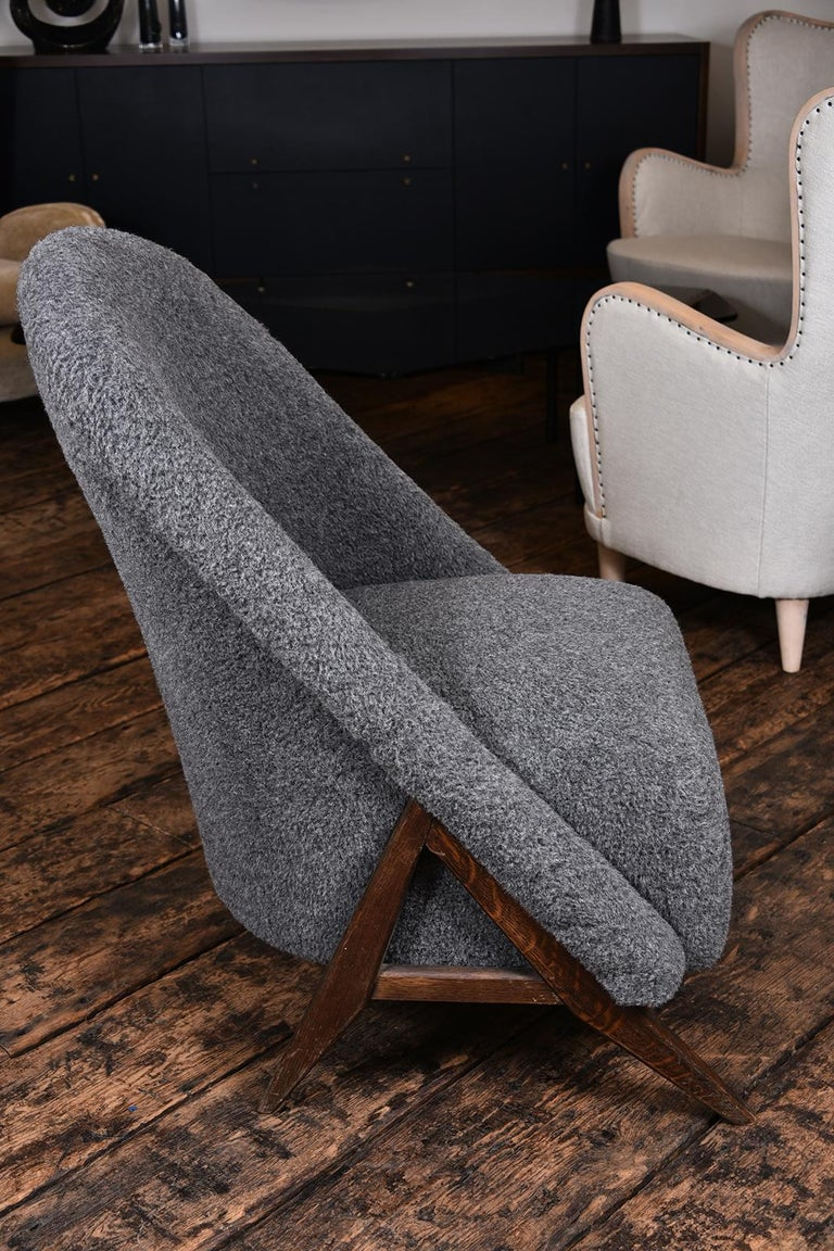 1950s vintage Danish chair. Covered in a wool and alpaca blend.
