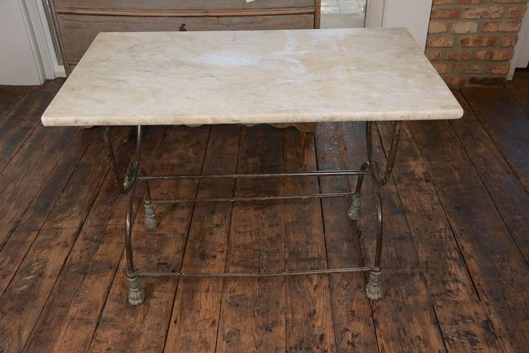 Pair of French Butcher Tables In Good Condition For Sale In Houston, TX