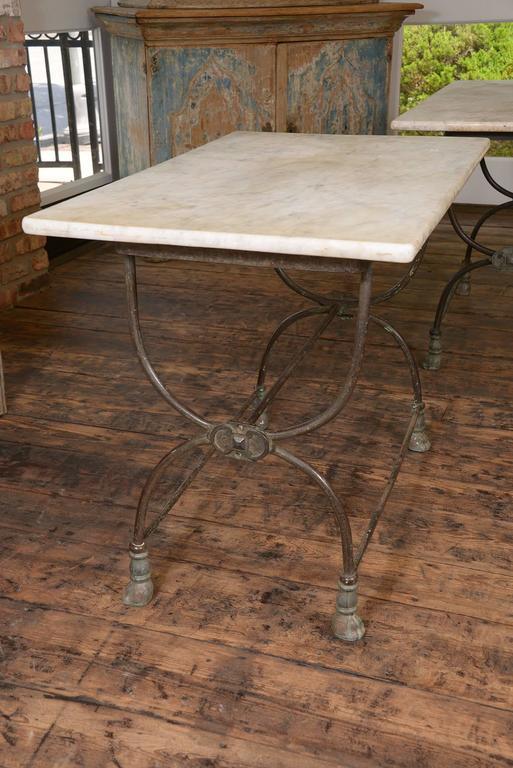 Early 20th Century Pair of French Butcher Tables For Sale