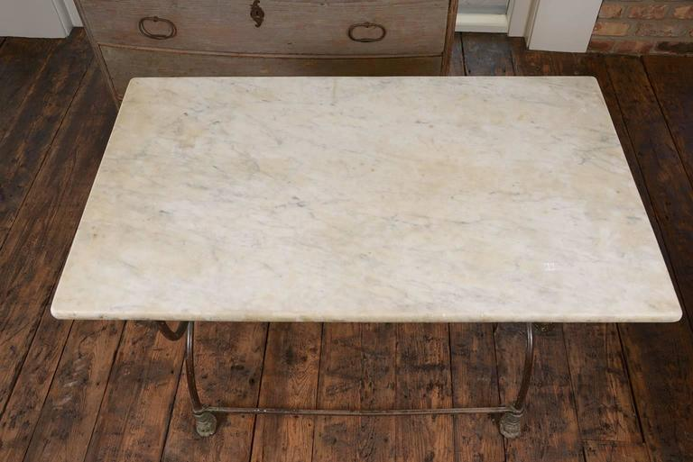 Pair of French Butcher Tables For Sale 3