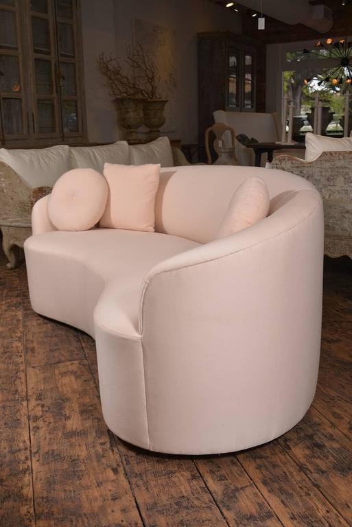 Custom Curved Sofa by M Naeve In Excellent Condition For Sale In Houston, TX