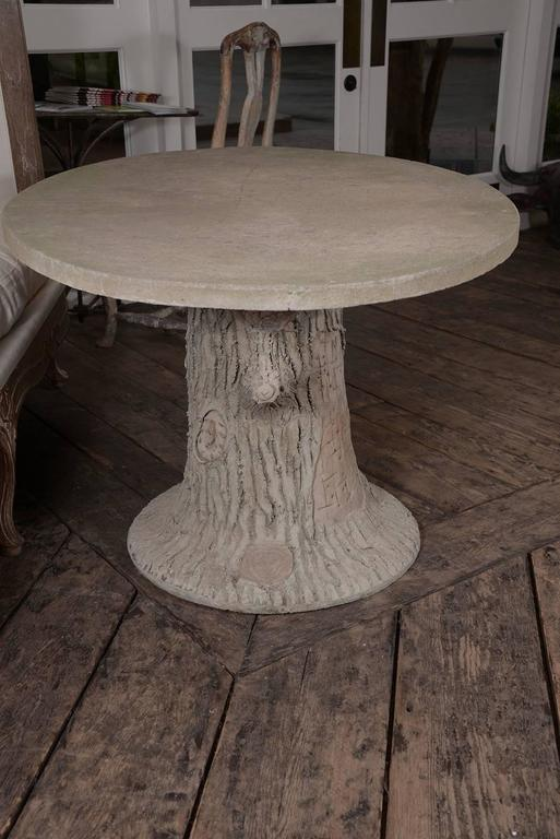 French faux bois table for sale at 1stdibs Table jardin imitation bois