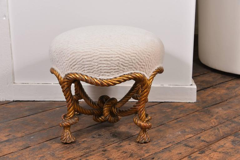 French Fournier Rope Stool For Sale