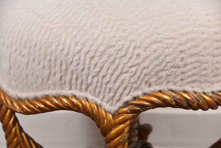 Fournier Rope Stool In Good Condition For Sale In Houston, TX