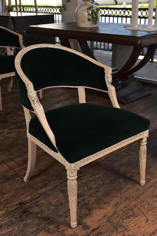 19th Century Swedish Gustavian Barrel Back Chairs For Sale